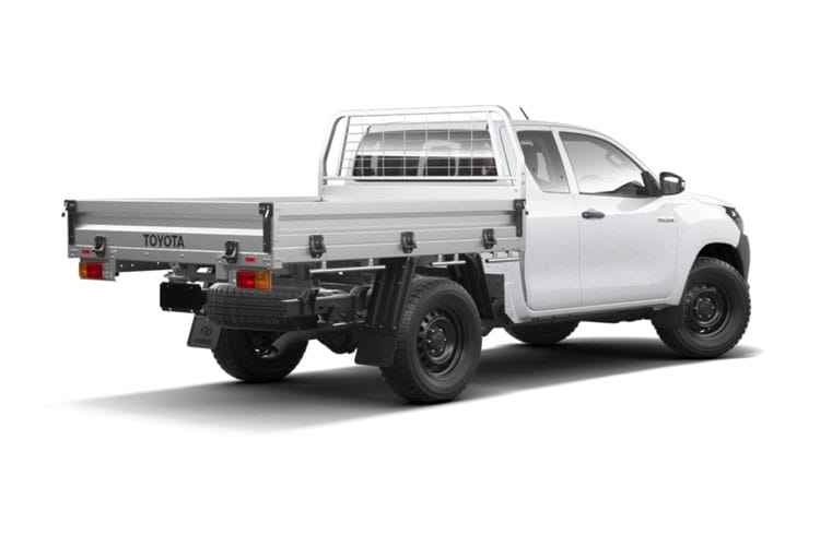 Toyota Hilux PickUp Extra Cab 4wd 2.4 D-4D 4WD 150PS Active Dropside Dropside Double Cab Manual back view