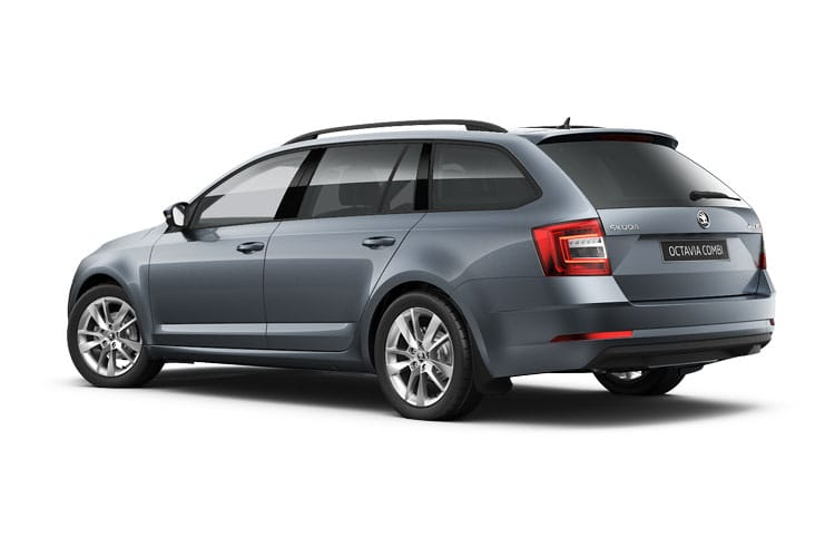 Skoda Octavia Estate 2.0 TSi 245PS vRS 5Dr Manual [Start Stop] back view