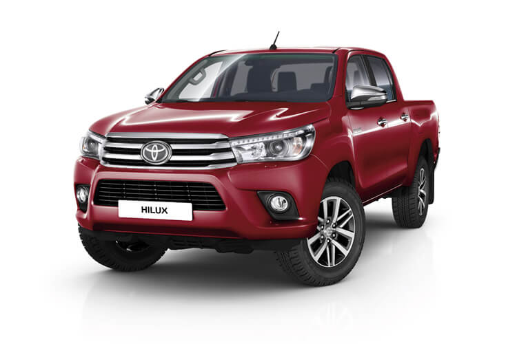Toyota Hilux PickUp 4wd 3.5t 2.4 D-4D 4WD 150PS Active Dropside Dropside Manual front view